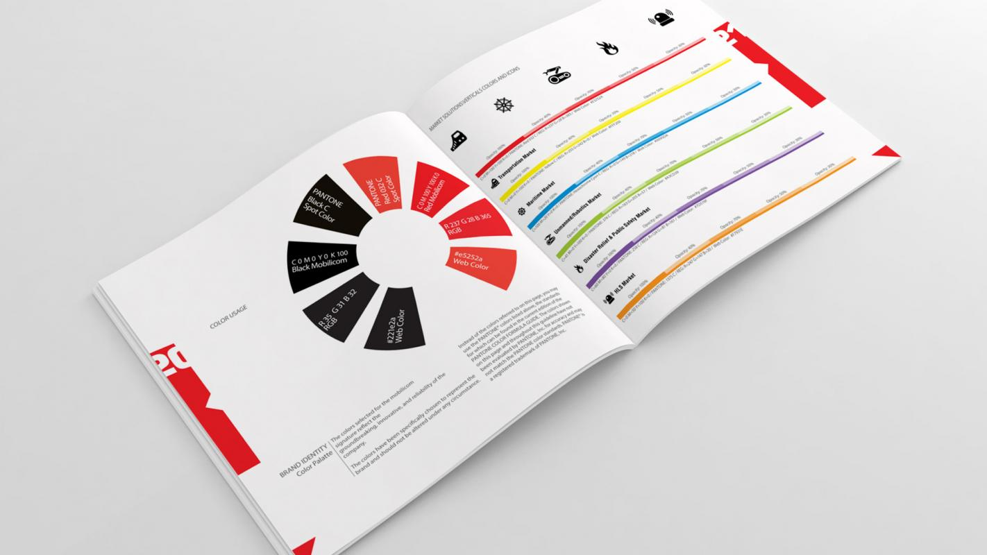 Brand book with all brand specifications for future use